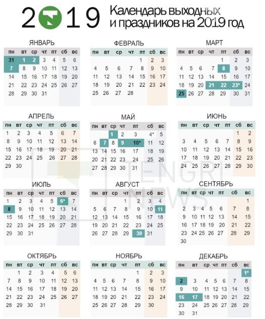Сколько дней отдохнут казахстанцы в марте, фото-1