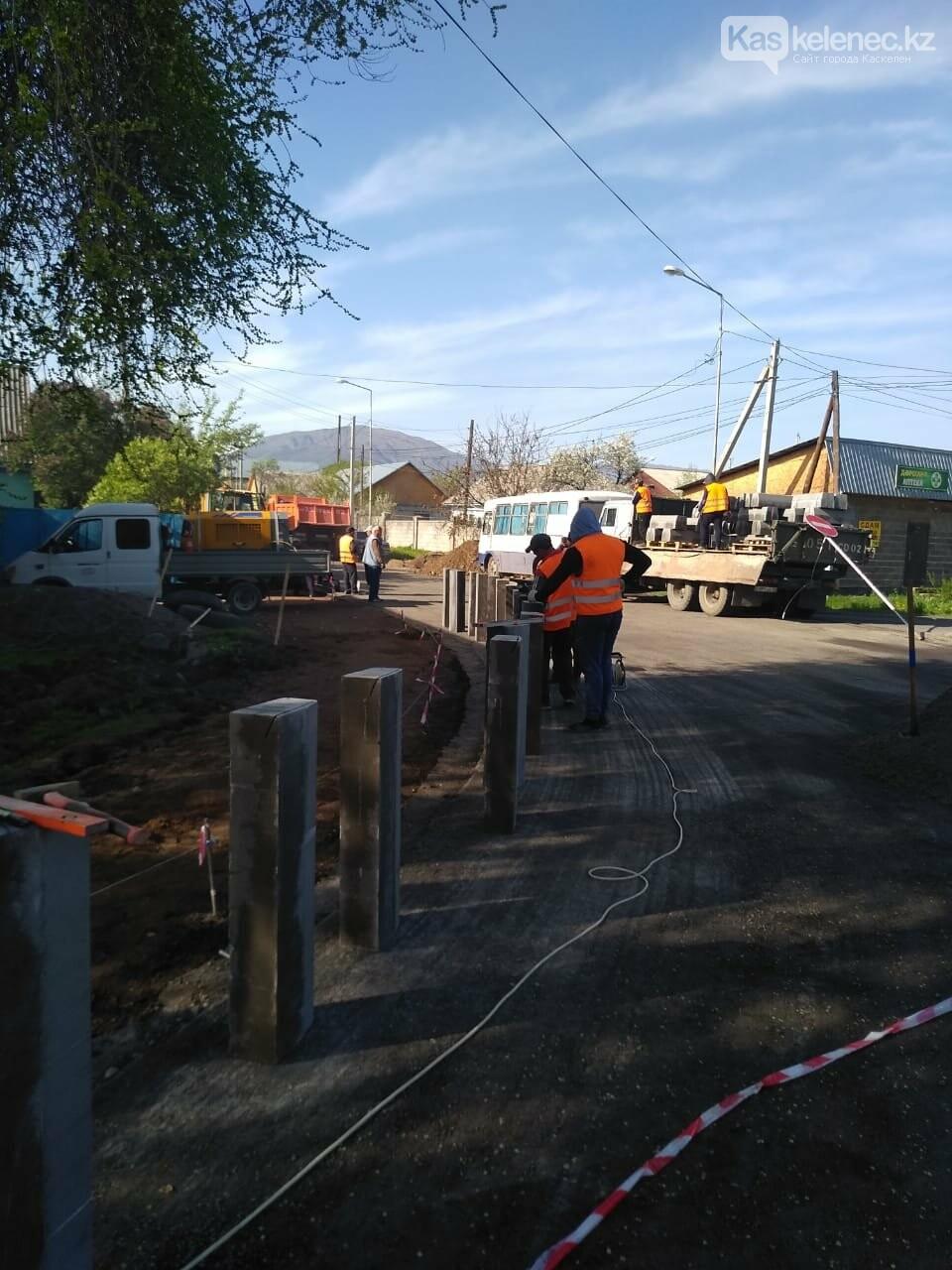 Одну из центральных улиц Каскелена перекрыли на несколько месяцев, фото-1