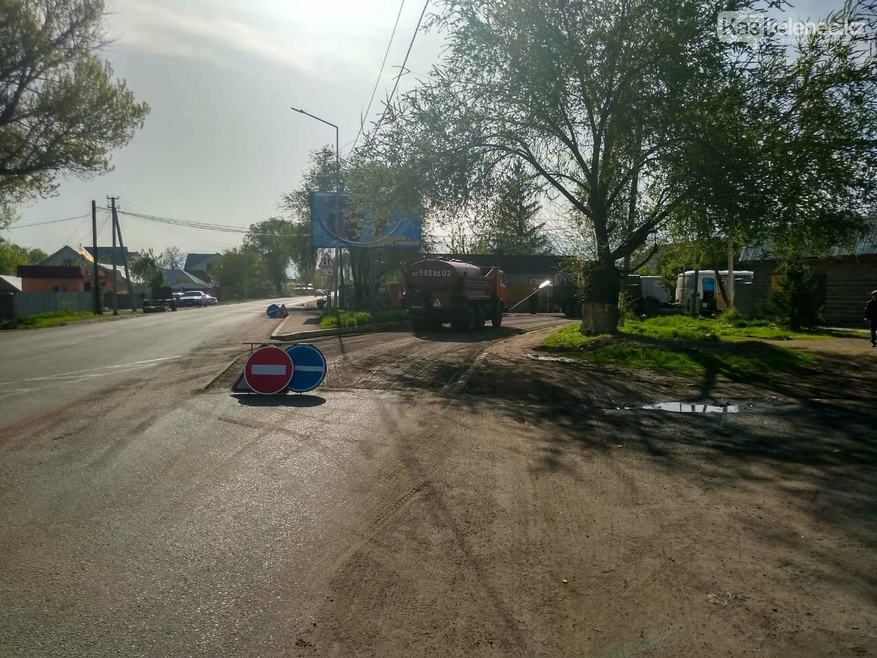 Одну из центральных улиц Каскелена перекрыли на несколько месяцев, фото-3