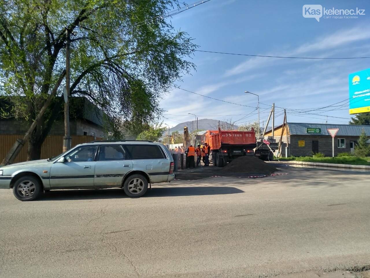 Одну из центральных улиц Каскелена перекрыли на несколько месяцев, фото-4