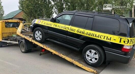 Toyota Land Cruiser изъяли за долги в Алматинской области, фото-1